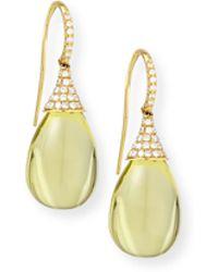 Goshwara - Naughty 18k Gold Lemon Quartz Drop Earrings - Lyst