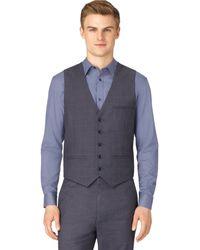 Calvin Klein Classic Fit Twill Plaid Suit Vest - Lyst