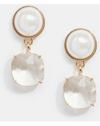 Coast - Faux Pearl & Sparkle Earrings - Lyst