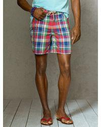 Polo Ralph Lauren Marlin Plaid 7 Swim Trunk - Lyst