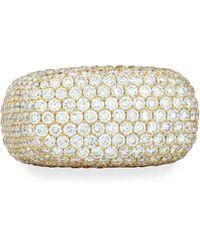 Bessa - 18k Gold Pave Diamond Square Ring - Lyst
