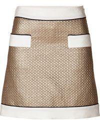 Moschino Metallic Wool-Silk Blend Mini-Skirt - Lyst