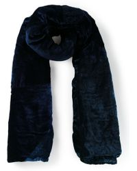 Dosa Blue Patched Scarf - Lyst