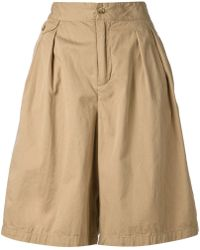 Engineered Garments - Pleated Wide Leg Shorts - Lyst