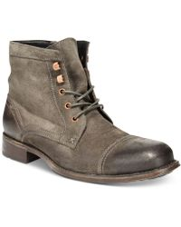 Kenneth Cole Reaction Gray Accupicture Boots - Lyst