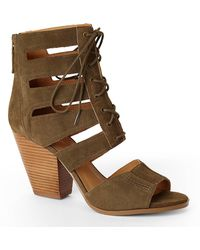 Nine West Green Highland Lace-Up Sandals - Lyst