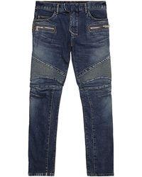 Balmain Slim Fit Biker Jeans - Lyst