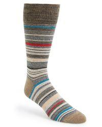 Calvin Klein Multistripe Emblem Socks brown - Lyst