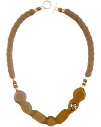 Moran Porat Jewelry Pralines Necklace With Swarovski Crystal Mustard - Lyst