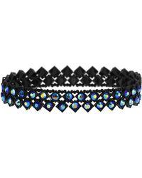 Topshop Iridescent Blue Stone Choker - Lyst