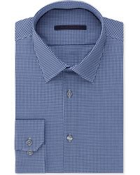 Elie Tahari Blue Check Dress Shirt - Lyst