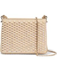 Christian Louboutin - Triloubi Small Spiked Leather Shoulder Bag - Lyst