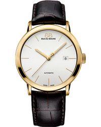 88 Rue Du Rhone 87wa154213 Yellow Gold-plated And Leather Watch - Metallic