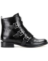 MICHAEL Michael Kors Anya Leather Ankle Boots - Lyst