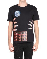 Raf Simons Slim Fit Cotton T-shirt with Graphic Nails Print - Lyst