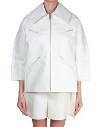 Junya Watanabe White Eco-Leather Jacket white - Lyst
