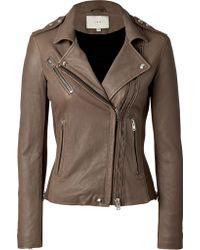 IRO Lamb Leather Biker Jacket - Lyst