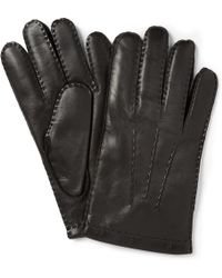 Dents - Touch Screen Cashmere-Lined Leather Gloves - Lyst
