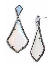 Kendra Scott 'mystic Bazaar - Alexis' Drop Earrings - Gunmetal Iridescent Opalite - Blue