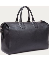 Bally Perforated Leather Duffel Bag - Black