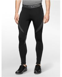 Calvin Klein White Label Performance Stretch Compression Pants black - Lyst