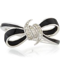 Stephen Webster Forget Me Knot Mini Enamel Bow Ring W/ Diamonds - Lyst