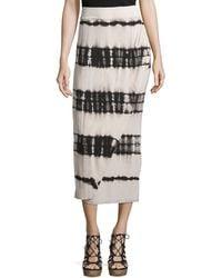 Cirana - Tie-dye Maxi Wrap Skirt - Lyst