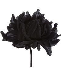 Erika Cavallini Semi Couture Flower Brooch - Black