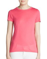 RED Valentino Tulle Bow-back Tee - Lyst
