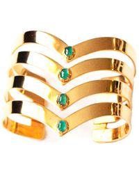 Isabel Englebert - Gladiator Pure Cuff Emeralds And Gold - Lyst