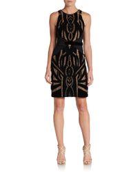Nicole Miller Art Deco Cutout Dress - Lyst