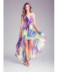 Bebe Pleated Hilo Dress - Lyst