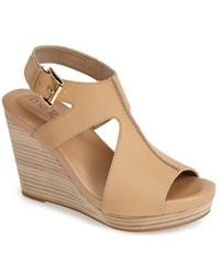 Me Too 'Atlantic' Leather Wedge Sandal - Lyst