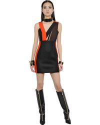 Emanuel Ungaro Color Blocked Wool Crepe Dress - Lyst