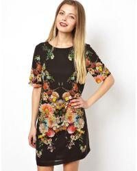 Asos Botanical Print Tshirt Dress - Lyst