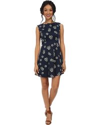 French Connection Eddy Floral Cotton Dress 71Dji - Lyst