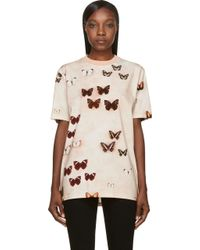 Givenchy Peach Butterfly T_shirt - Lyst