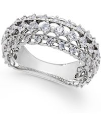 Marchesa Diamond Band By Certified In 18K White Gold (1 Ct. T.W.) silver - Lyst