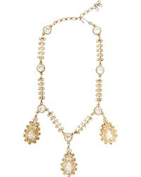 House of Lavande - Christian Dior Drop Necklace - Lyst