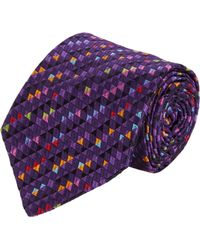 Etro Triangle Jacquard Silk Neck Tie - Lyst
