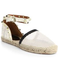 Rebecca Minkoff   Gilles Studded Mesh And Leather Espadrilles   Lyst