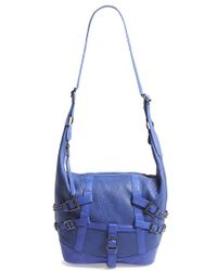 Ash 'Roxy' Belted Leather Crossbody Hobo - Lyst