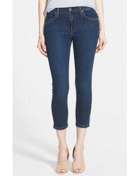 James Jeans 'Twiggy' Crop Skinny Jeans blue - Lyst