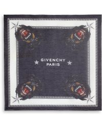 Givenchy Rottweiler Silk Square Scarf black - Lyst