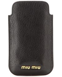 Miu Miu Leather Iphone 5 Case - Lyst