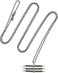 Maria Black Trippel Spear Silver-Tone Necklace - Lyst