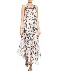 Suno Floral Silk Slashed Maxi Dress - Lyst