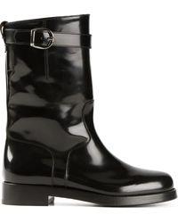 Dolce & Gabbana High Biker Boots - Black