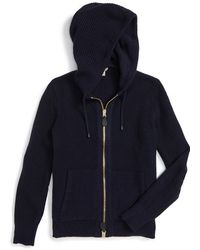 Burberry Brit - Burberry 'woodsford' Full Zip Wool & Cashmere Hoodie - Lyst
