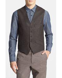 Ted Baker 'Jaguar' Wool Vest - Lyst